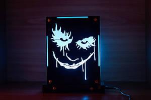 Декоративный настольный ночник Джокер, теневой светильник, несколько подсветок (на пульте)