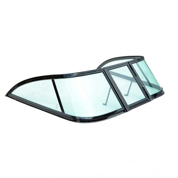 Ветровое стекло Обь3 GALA Ob3, материал каленое зеленое стекло