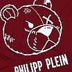 "Футболка мужская бордо PHILIPP PLEIN с принтом ""МИШКА"" Ф-10 BOR L(Р) 19-623-020, фото 4"