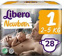 Libero Newborn подгузники детские 1 (2-5 кг) 28 шт