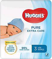 Huggies влажные салфетки детские Pure Extra Care 56шт (2+1 Free)