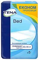 Tena пеленки одноразовые впитывающие Bed Normal 60x90 5 шт