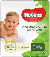 Huggies влажные салфетки детские Extra Care 56шт (2+1 Free)