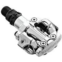 Контактні педалі Shimano PD-M520, SPD MTB сріблясті + шипи