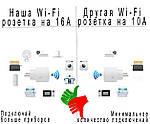 Умная розетка Wi-Fi управление Wi-smart Plug комплект 3 шт розетка с таймером с голосовым управлением, фото 2