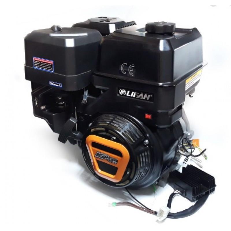 Двигун бензиновий Lifan KP460E (20 л. с., електростартер, вал 25 мм, шпонка)