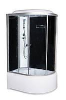 Гидромассажный бокс 120х80 Vivia левый, глубокий поддон, тонированное стекло