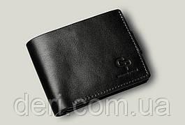 Шкіряне чоловіче портмоне Amico, глянцевий чорний чоловічий гаманець Amico