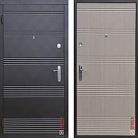 Дверь входная металлическая ZIMEN Vanessa, Base, Fuaro, Венге темный / Светлый, 850х2050, правая
