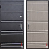 Дверь входная металлическая ZIMEN Vanessa, Base, Fuaro, Венге темный / Светлый, 950х2050, левая