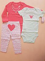 Carters Набор тройка для девочки на 18 месяцев