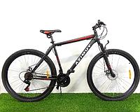 """Спортивный горный велосипед 29 дюймов  Аzimut Energy 29"""" FR/D рама 19"""" черно-красный"""