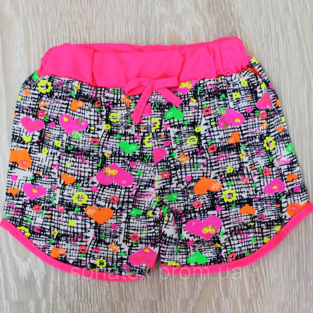 Трикотажні шорти для дівчаток від 3 до 10 років.