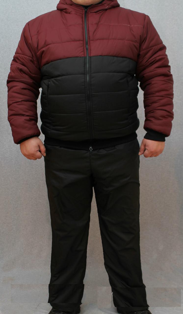"""Стильный зимний, теплый, мужской костюм """"Стильные латки"""""""