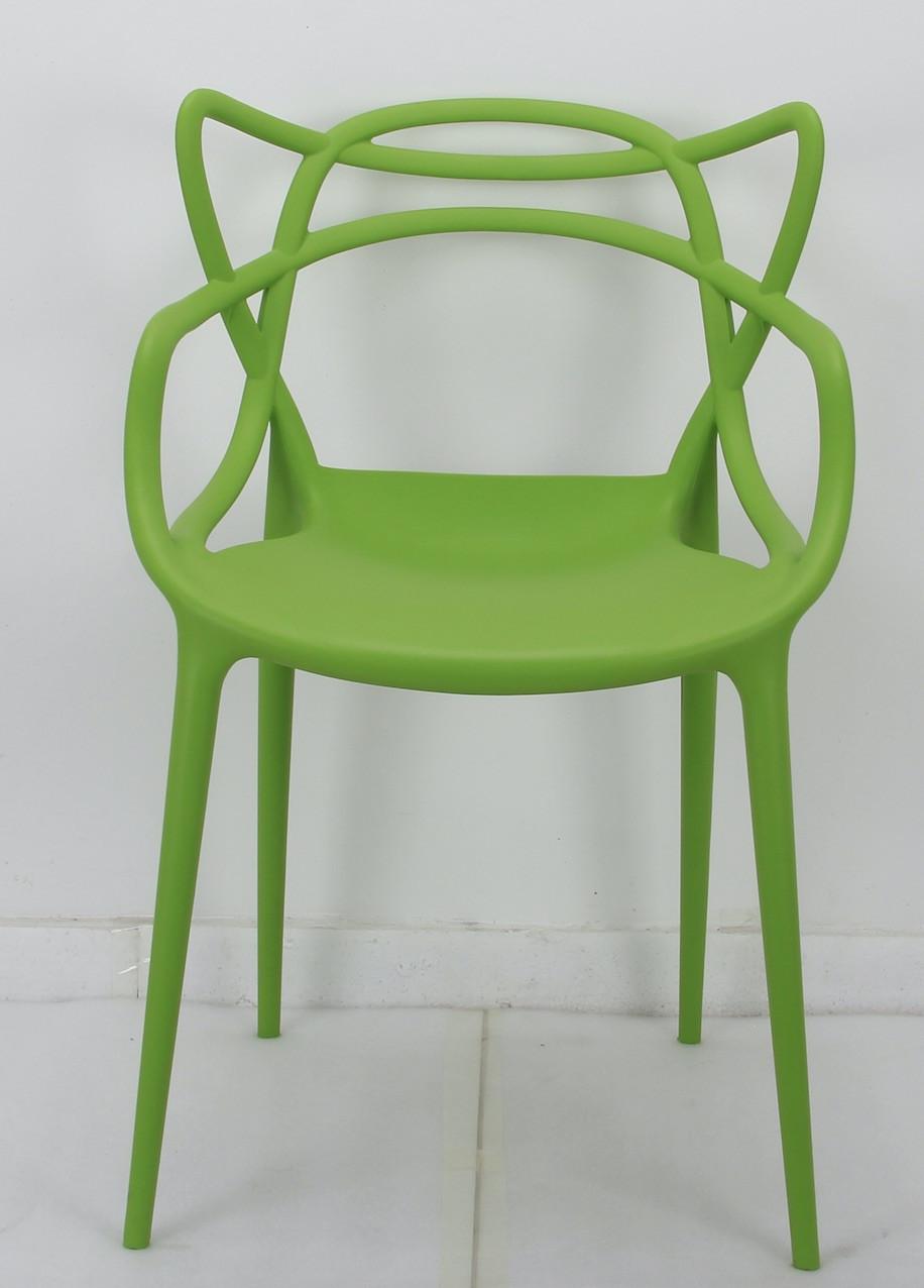 Штабелируемый стул пластик Bari (Бари) зеленый 41 Onder Mebli