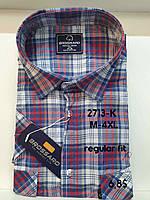 Рубашка 100 % коттон с коротким рукавом - 2713 (regular fit)