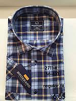 Рубашка 100 % коттон с коротким рукавом - 2711 (regular fit)