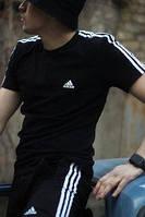 Спортивный костюм мужской летний Adidas. Футболка, Шорты, кепка панамка Adidas