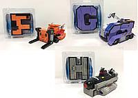 Трансформер-літери G2039-F/G/H (90шт/3) Англ алфавіт, 3 мікс, під слюдою 14.5*11.5*3.5 см
