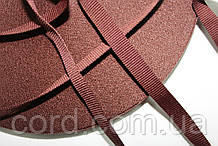 Тесьма Репс 10мм 50м коричневый