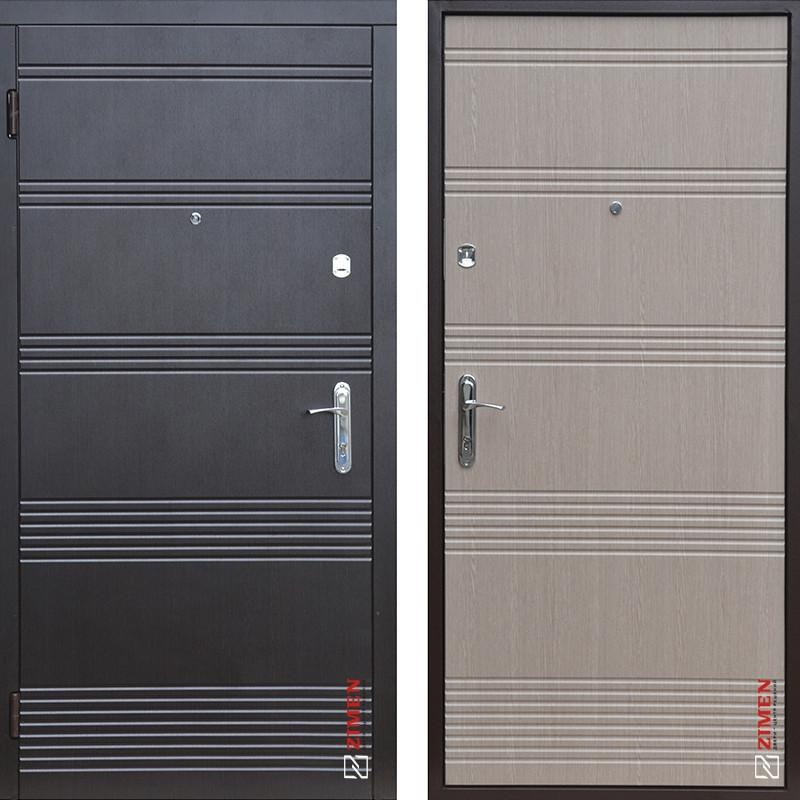 Дверь входная металлическая ZIMEN Vanessa 2, Base, Fuaro, Венге темный / Светлый, 850х2050, левая