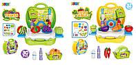 Продукты 8348AB (36шт/2) 2 вида, фрукты/овощи,аксес, в чемодане 26*23,5*28 см