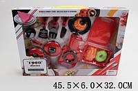 Набор газ.плита 6611E (1773005) (24шт) кастрюля, сковорода,столов.приборы,продукты, в кор.45,5*32*6см