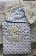 Детский велюровый плед одеяло 90х110