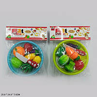 Продукты MJL-801B-13-E (36шт) 2 вида,на липучках,тарелке,нож,в пакете 23*24*7 см