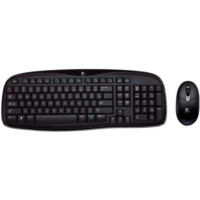 Logitech EX100 Wireless Keyboard and Mouse Combo Black Grade B1 Б/У