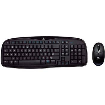Logitech EX100 Wireless Keyboard and Mouse Combo Black Grade B1 Б/У