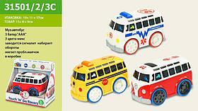 Муз.автобус 31501/2/3C (1407033/4/5C) (48шт/2) батар., муз, реалзвук от прикоснов