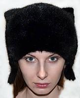 Женская шапка из натурального меха норки - кошка. 9e508b7210f7d