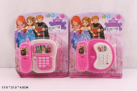 Муз.телефон 3939-60 (288шт)батар.,2вида микс,в кор. 17*21*4см