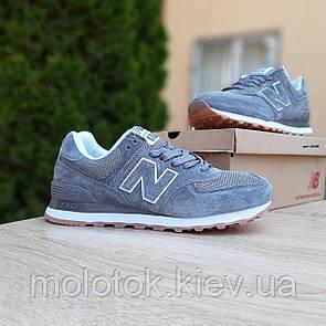Женские кроссовки в стиле New Balance 574 серые