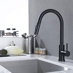 Змішувач для кухні. Модель RD-519. Чорний