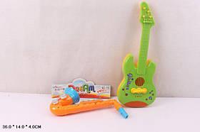 Муз.инструменты 115 (48шт)гитара,сарсофон,в пакете 36*14*4см