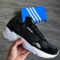 Мужские кроссовки Adidas Falcon Black White 40-44рр. Живое фото. Топ качество