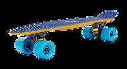 Пенни борд, скейтборд пластиковый Penny RUBBER SOFT TWIN FISH 22 дюйма двухцветный