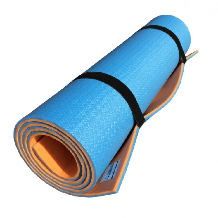 Килимок туристичний Izolon Tourist Profi синьо-помаранчевийовий