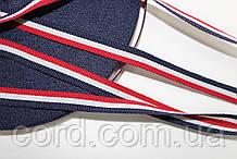 Тесьма Репс 10мм 50м красный+ белый + синий