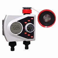 Электронный таймер автоматического полива с цифровым управлением и электромагнитными клапанами Aqualin 21076