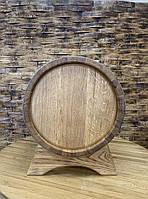 Бочка дубовая 50 л. для самогона, вина, коньяка обручи - нержавеющие.