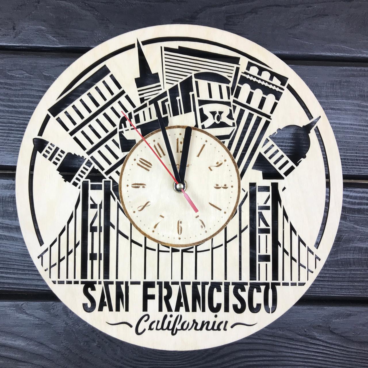 Декоративные настенные часы из дерева «Сан-Франциско»