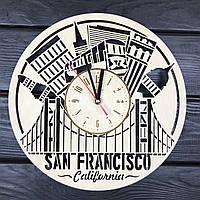 Декоративные настенные часы из дерева «Сан-Франциско», фото 1