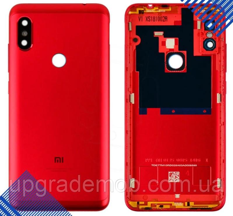 Задняя крышка Xiaomi Redmi Note 6 Pro, красная, оригинал