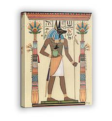 Картина на холсте BEGEMOT Древнеегипетский бог Анубис Галерейная натяжка 30x45 см (1110002)