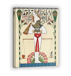 Картина на холсте BEGEMOT Древнеегипетский бог Осирис Галерейная натяжка 30x45 см (1110004)