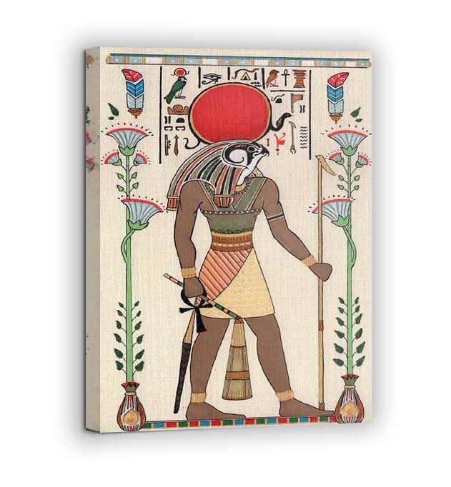 Картина на холсте BEGEMOT Древнеегипетский бог Ра Галерейная натяжка 30x45 см (1110005)