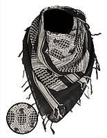 Арафатка-шемаг Mil-Tec с принтом Ф1 черно-белая 110*110см 100% хлопок